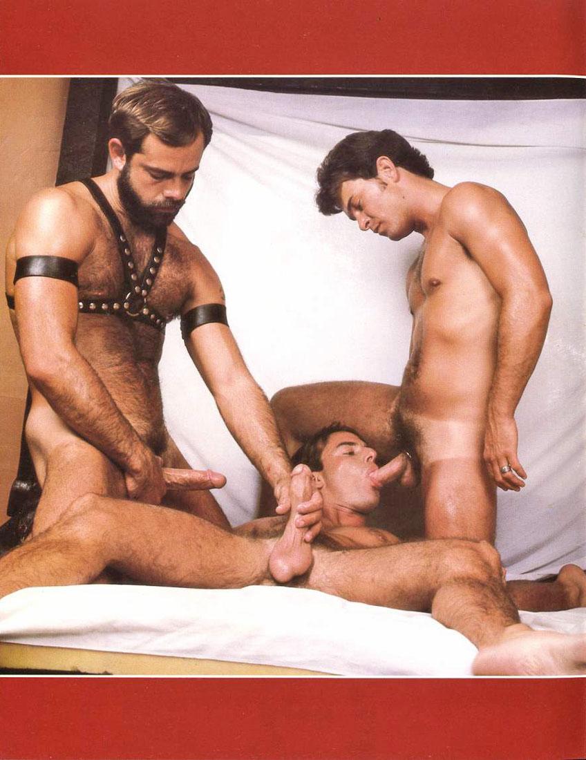 Kevin Scott, Rick Adams vintage gay hot daddy dude men porn SFO Orgy
