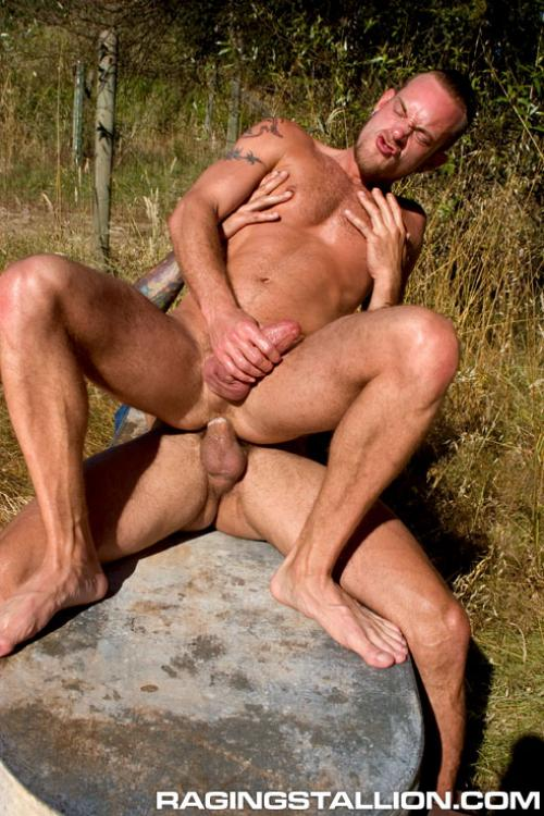Chuck DiRocco fuck Nick Piston gay hot daddy dude men porn Hard as Wood
