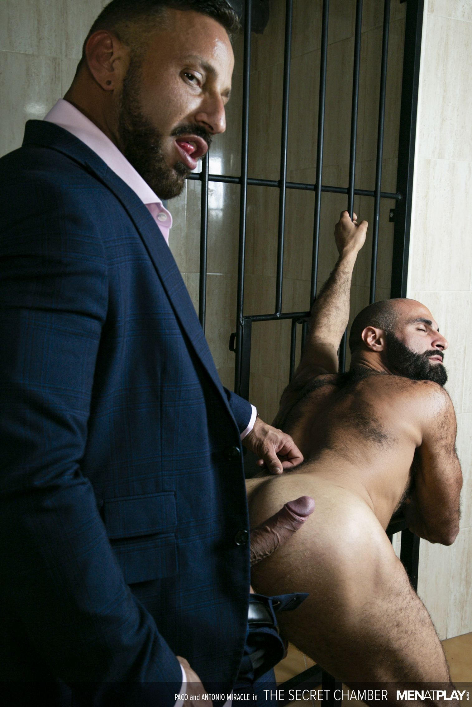 Antonio Miracle fuck Paco gay hot daddy dude men porn Secret Chamber
