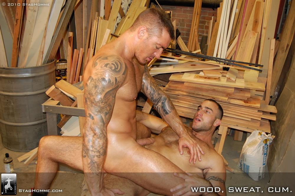 Spencer Reed fuck Francesco D'Macho gay hot daddy dude men porn Wood Sweat Cum