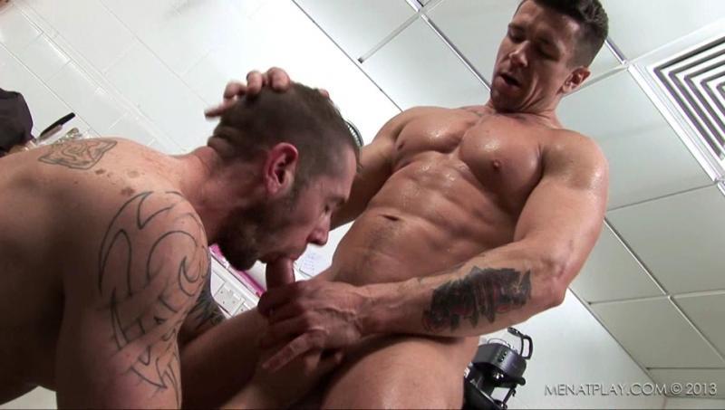 Trenton Ducati fuck Harley Everett gay hot daddy dude men porn Inspector