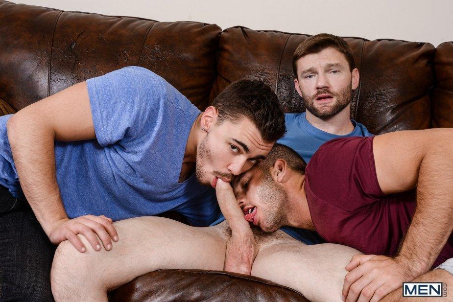 Jimmy Fanz and Dennis West fuck Asher Hawk gay hot daddy dude men porn Naughty Boys