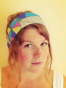 Hippy Silk Headscarf style