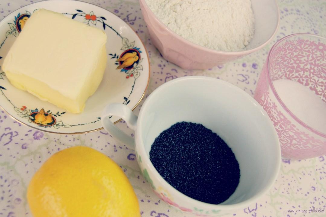 Ingredients, Recipe, Lemon, Poppyseed, Cookies