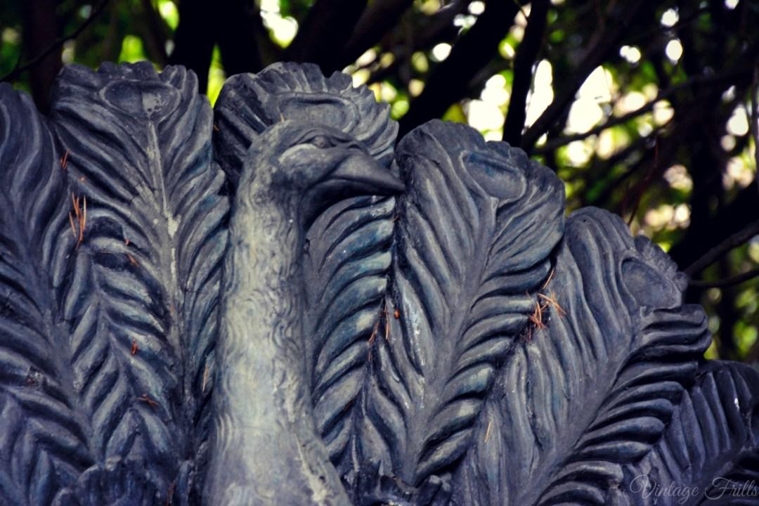 Claremont Peacock Statue