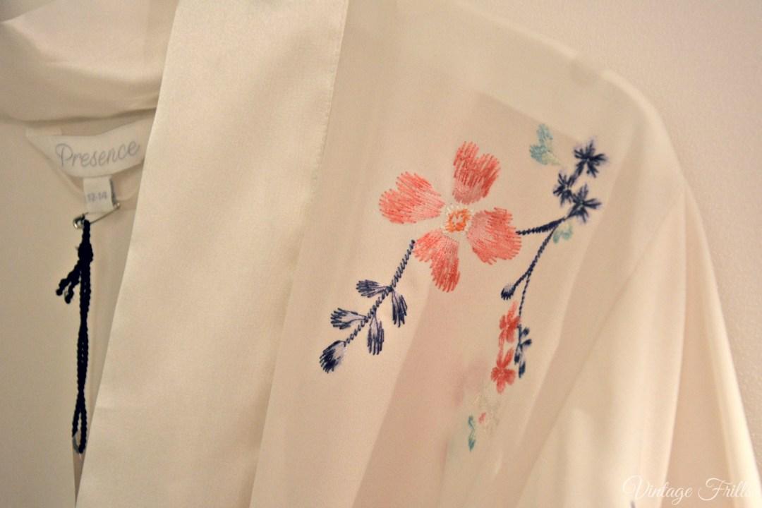 Debenhams SS15 Presence Embroidered Robe