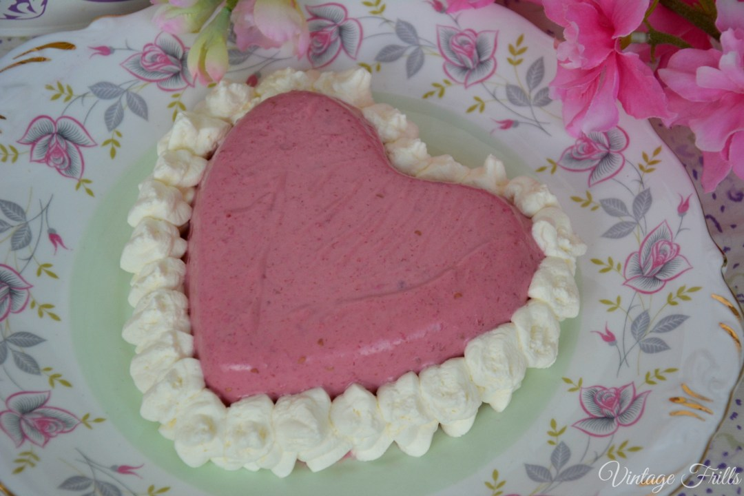 Heart Shaped Raspberry Blancmange Recipe