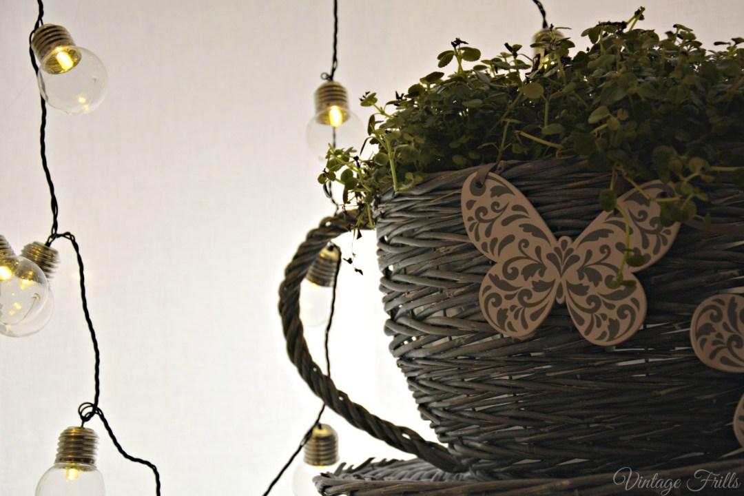 Next Flower Pot Basket and Lights