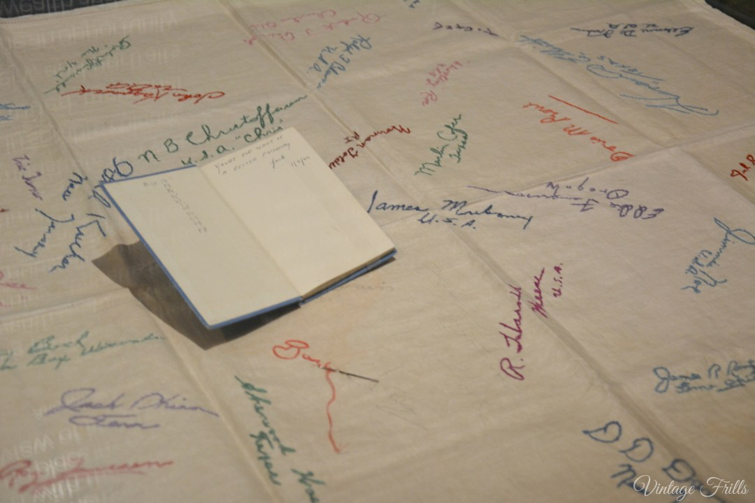 Hatched Matched Dispatched Patched, Table Cloth and book