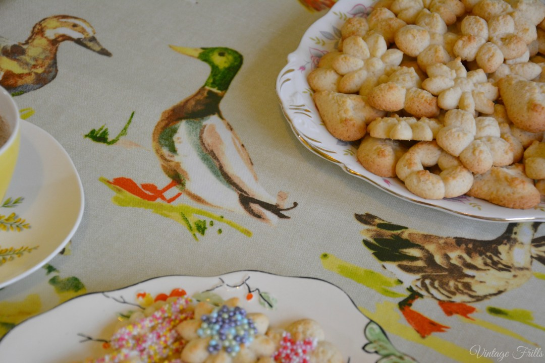 Paddling Ducks Oilcloth Tablecloth