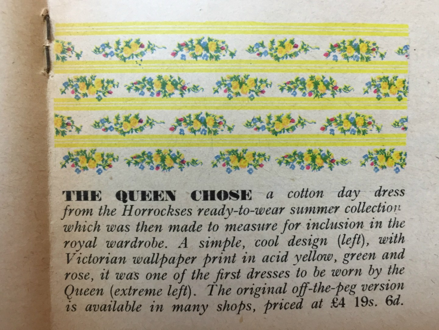 The Queen's Horrockses Dress Print