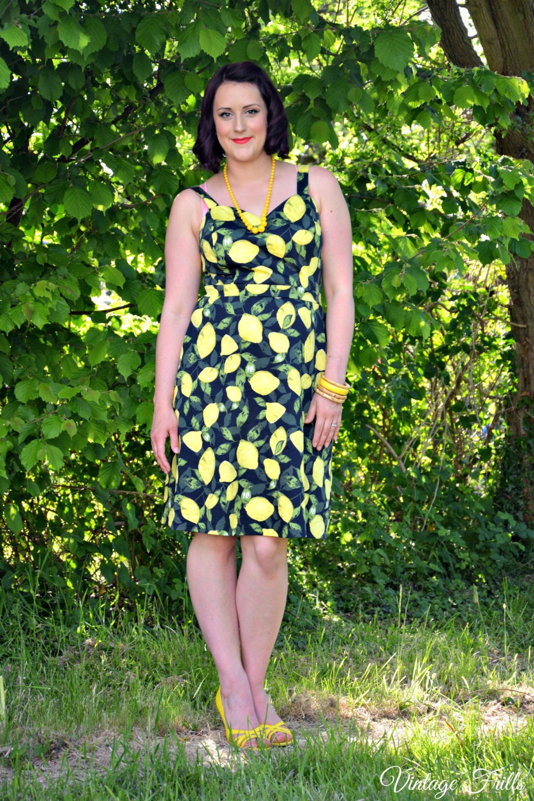 Asda Lemon Print Dress