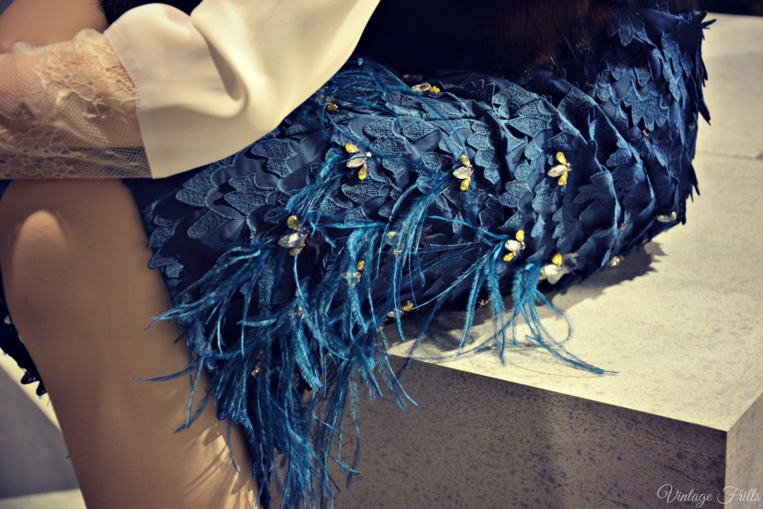 Coast AW15 Press Day Blue Feather Skirt Detail