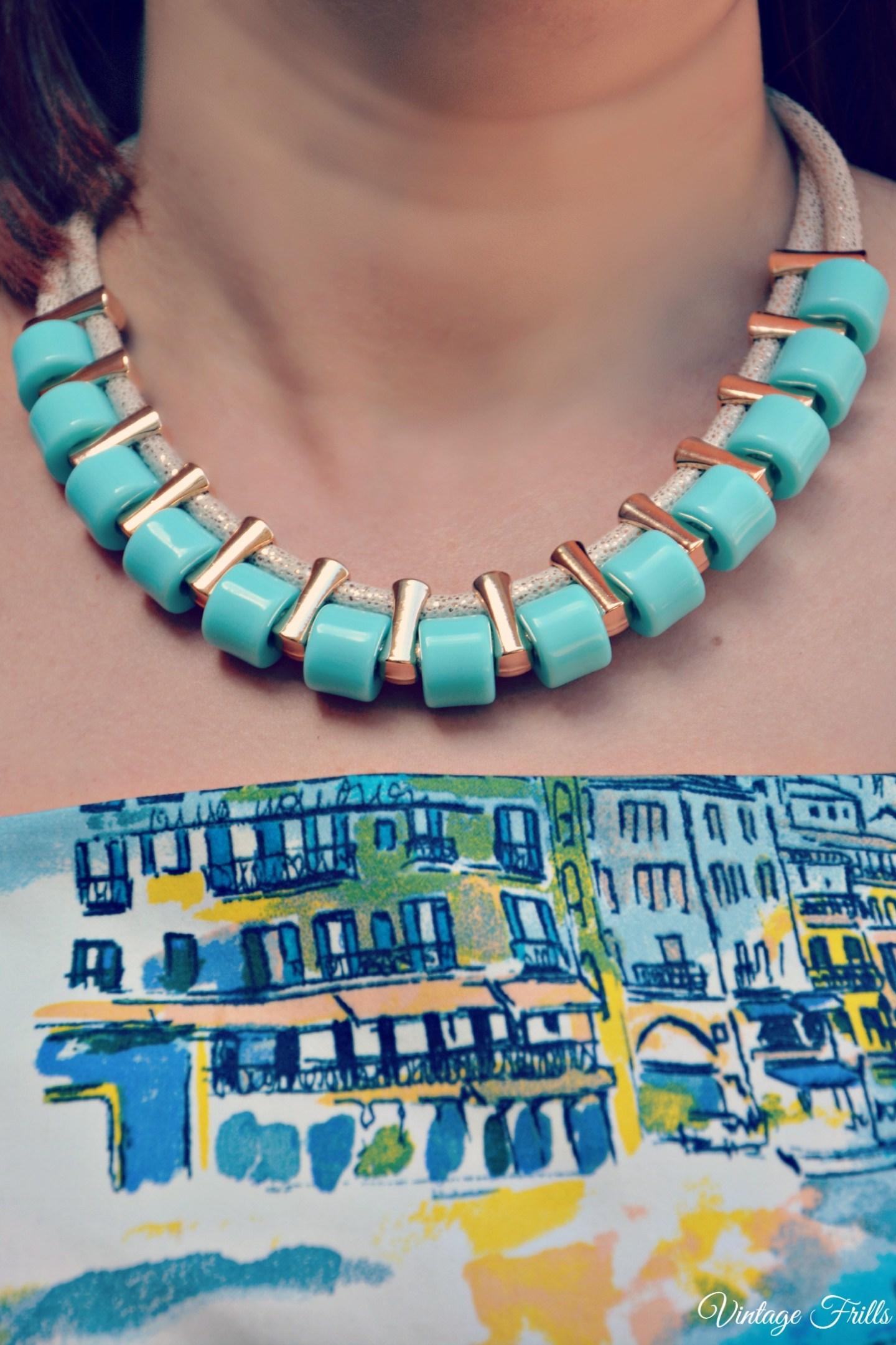 George Seaside Dress and Coast necklace OOTD