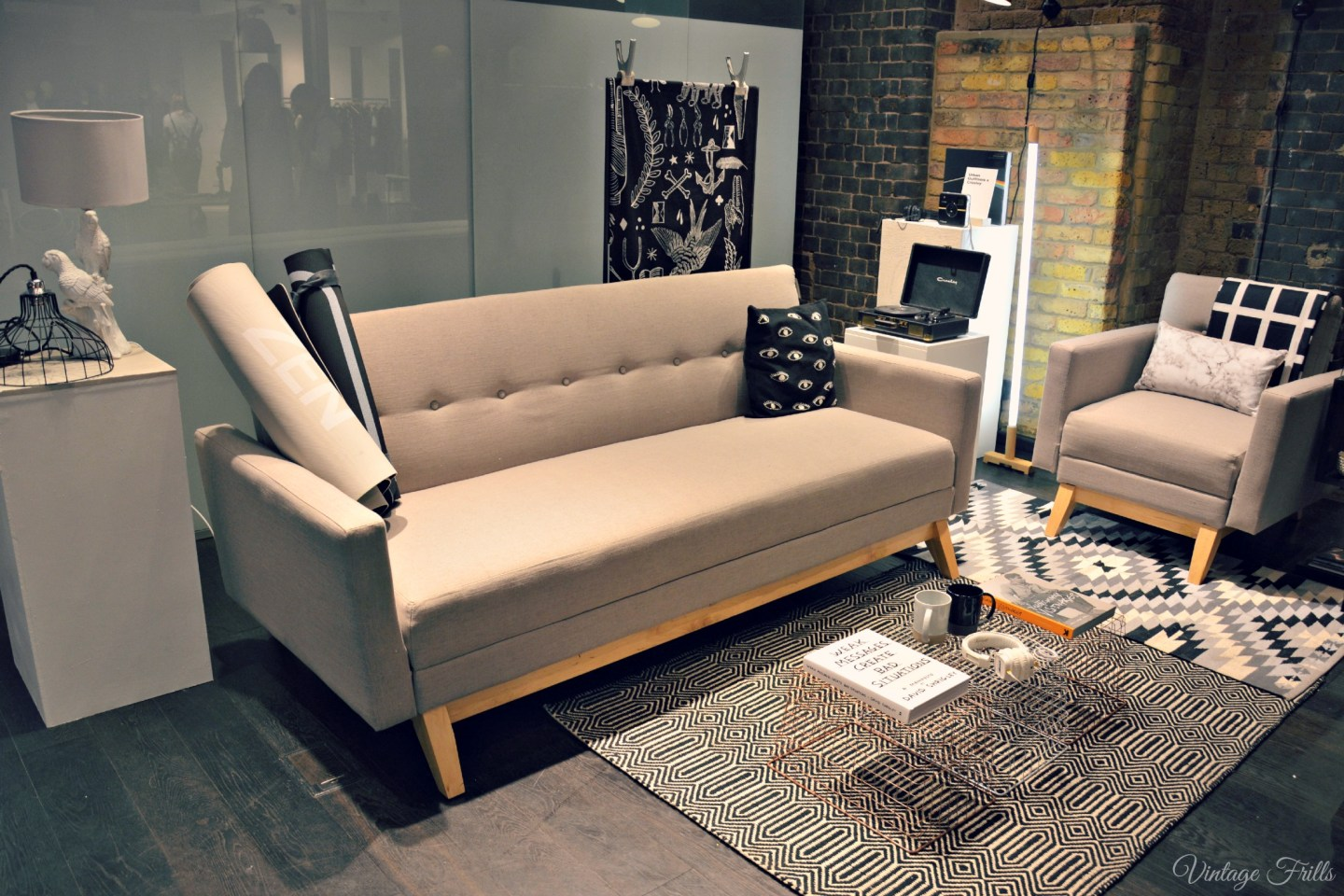Urban Outfitters AW15 Press Day Retro Sofa Bed
