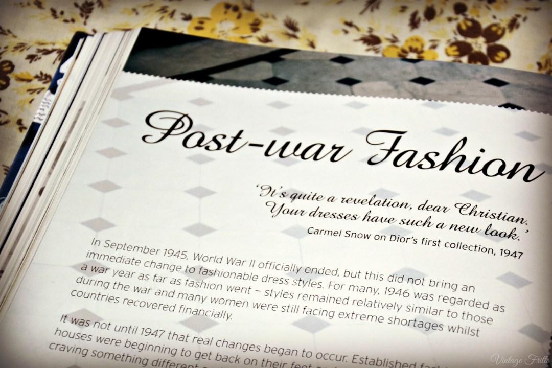 Style Me Vintage 1940s Post war fashion