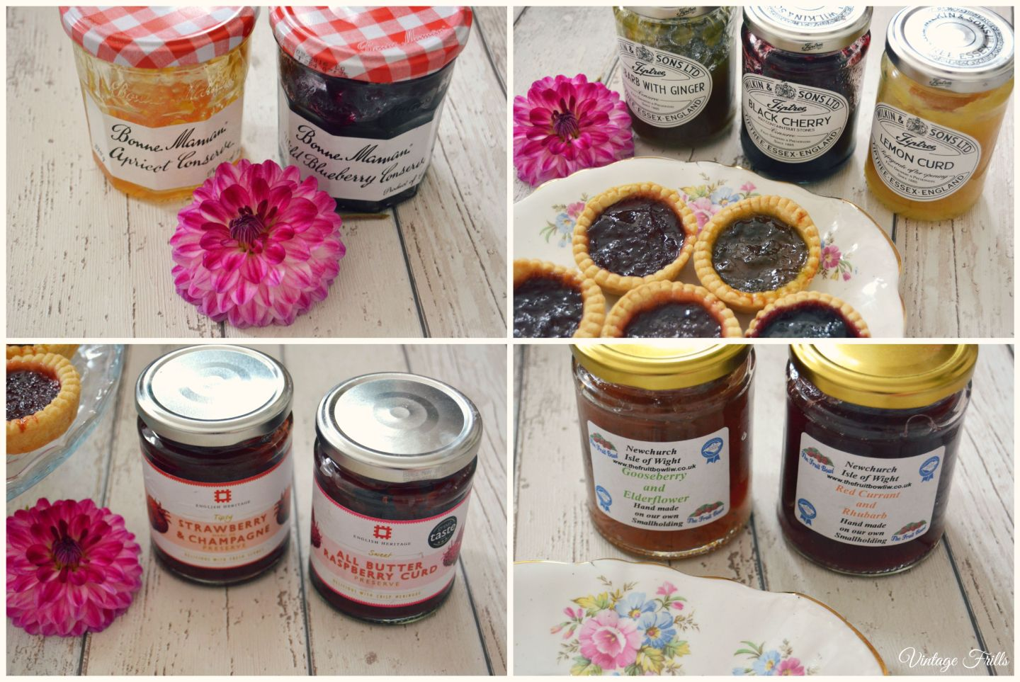 Flavoured Fruit Jams  Vintage Frills
