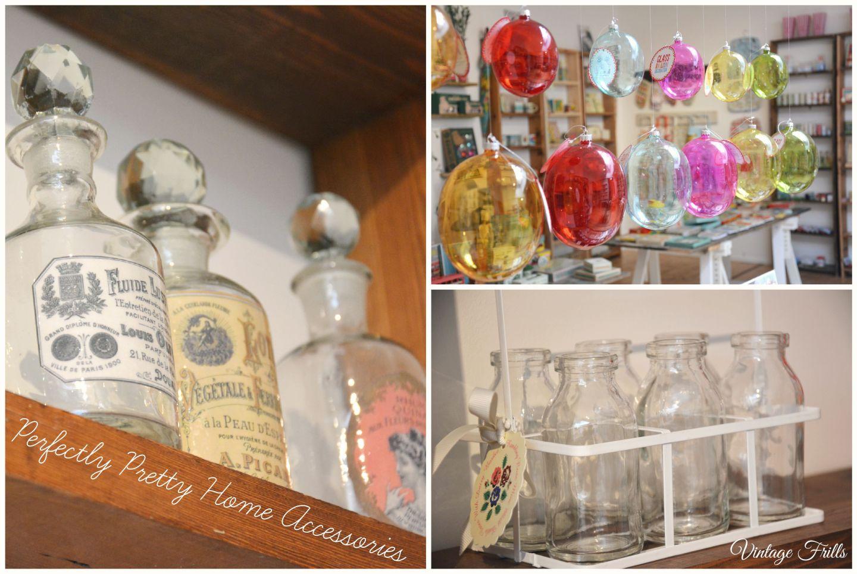Vintage Perfume Bottles  Mini Milkbottles  Glass Baubles  Dot Com Gift Shop  Vintage Frills