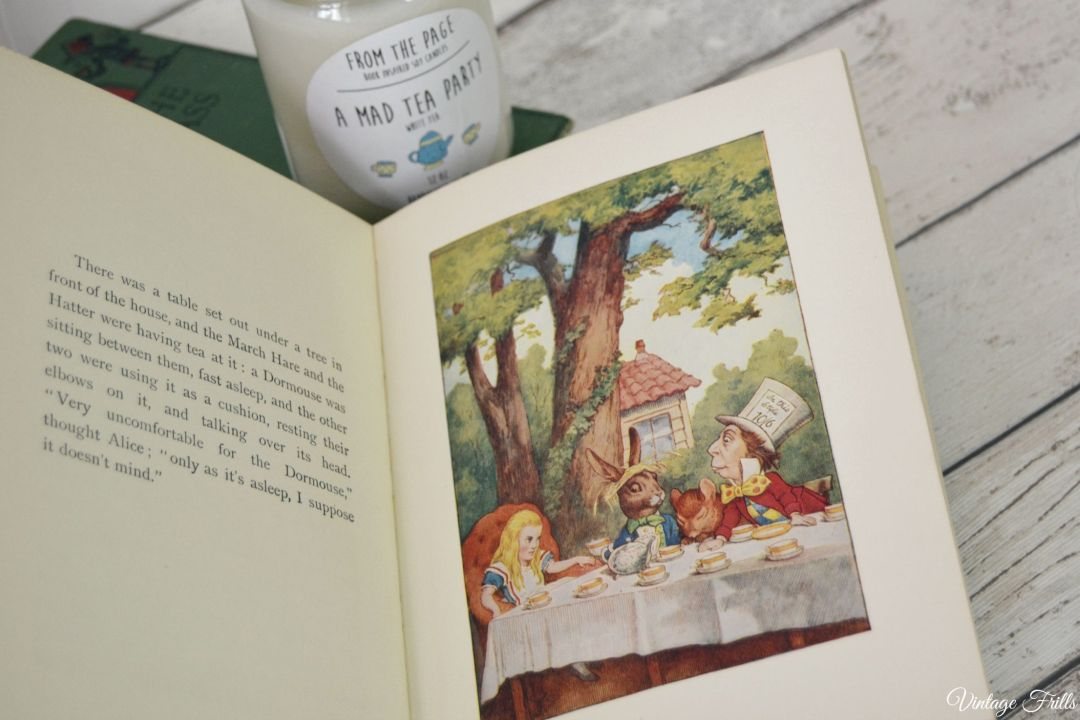 Alice in Wonderland Candle  From the Page  Uncommon Goods  Vintage Frills