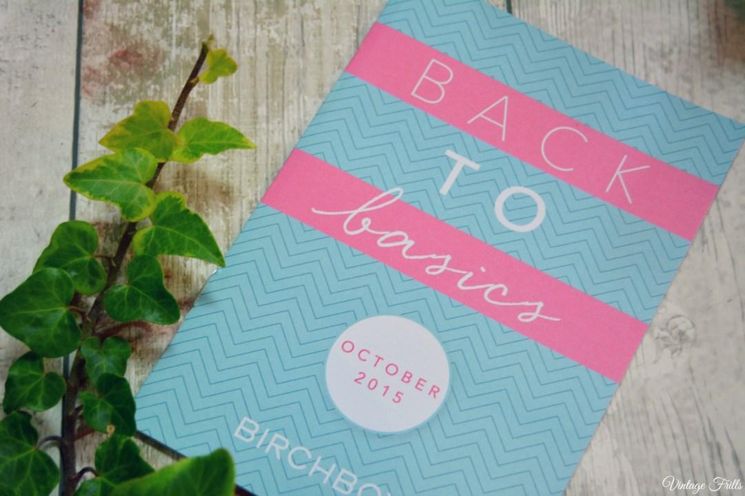 Birchbox Back to Basics