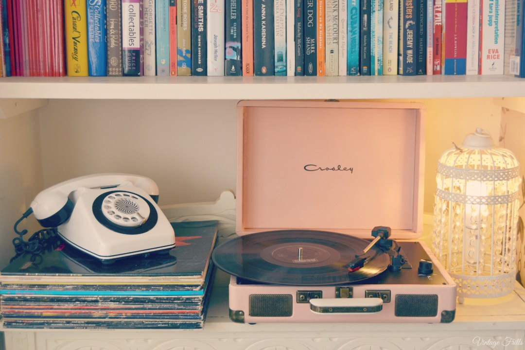 Vintage Frills Pink Crosley Record Player