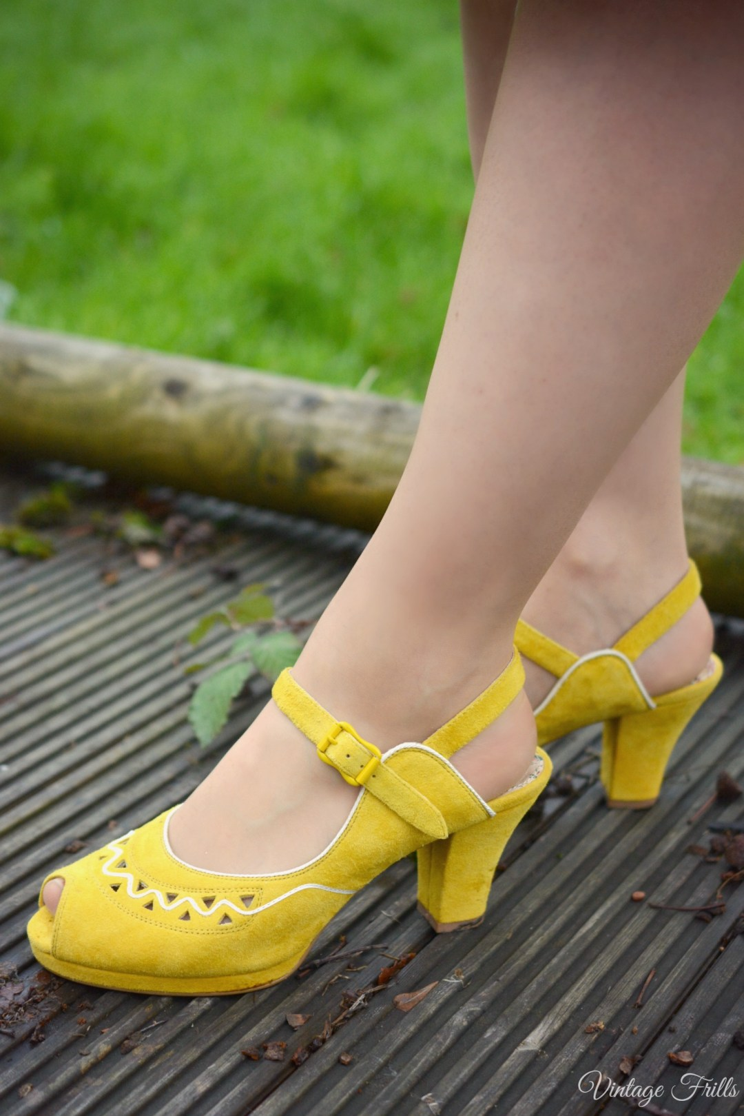 Miss L Fire Betty Shoes Mustard Yellow