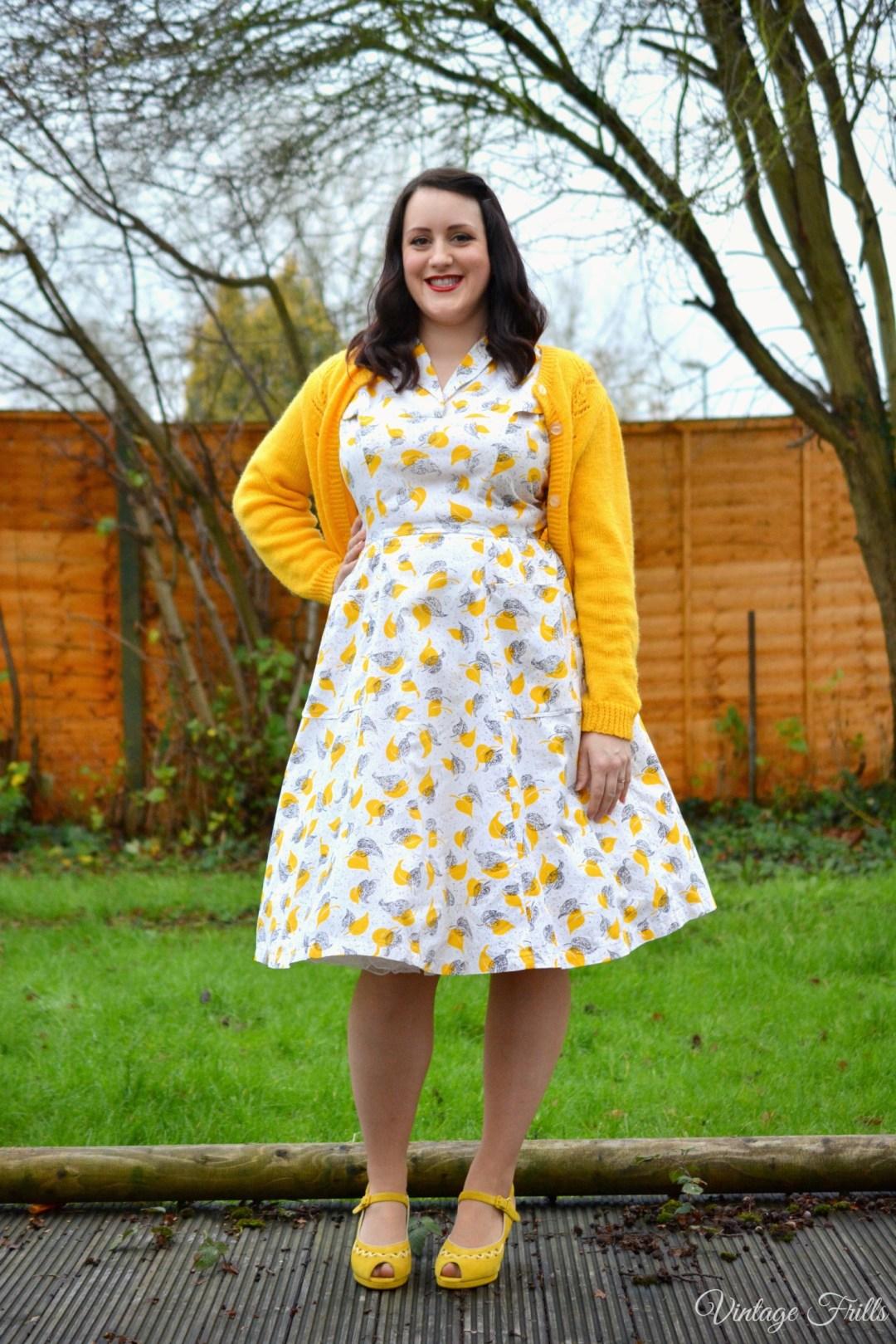 Mustard Dress OOTD