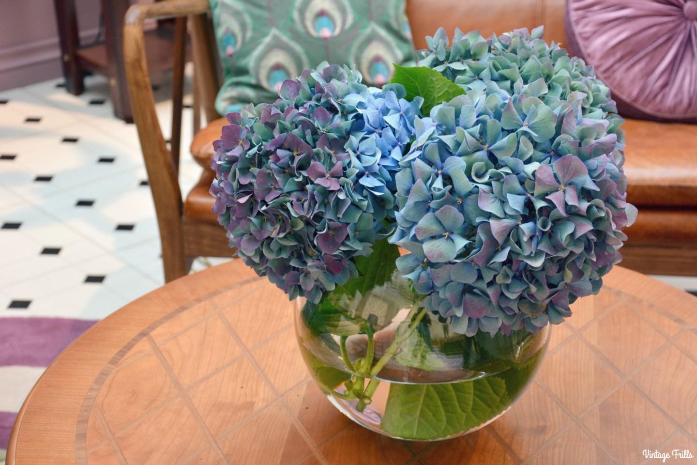 Laura Ashley Coffee Table and Hydrangeas