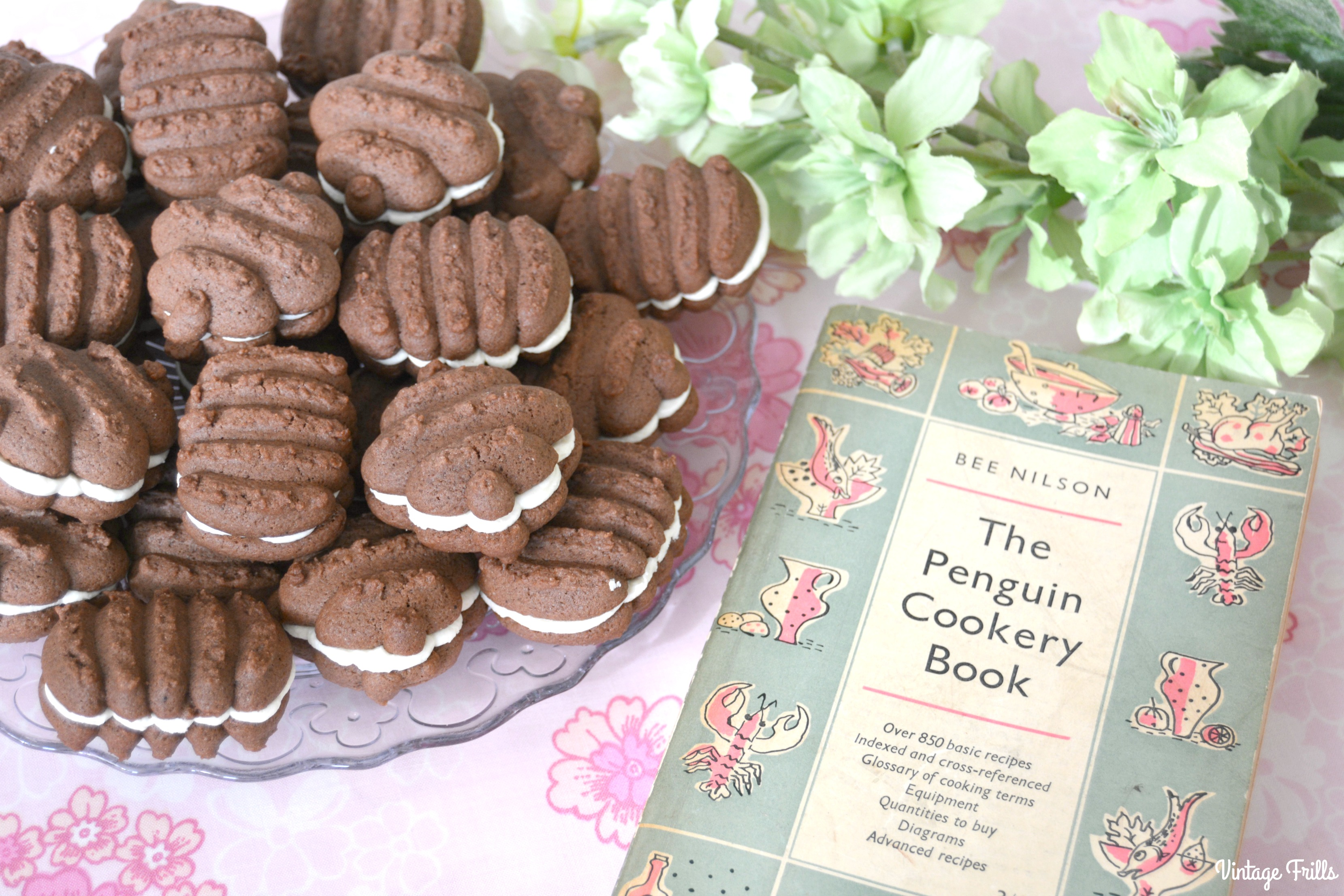 Chocolate Biscuits With A Butter Cream Filling From A 1950s Recipe Vintage Frills