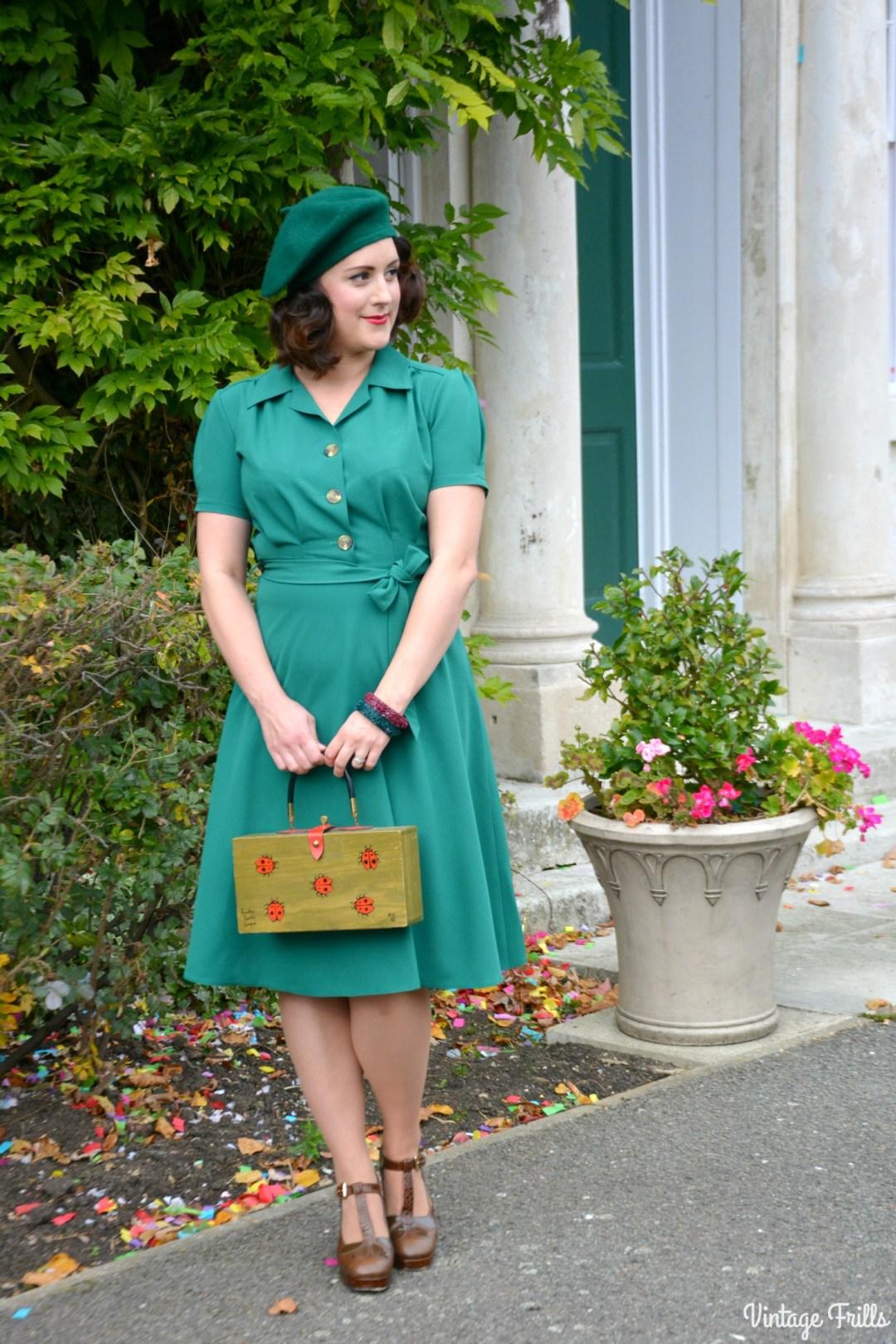 pretty-retro-pretty-green-shirt-dress