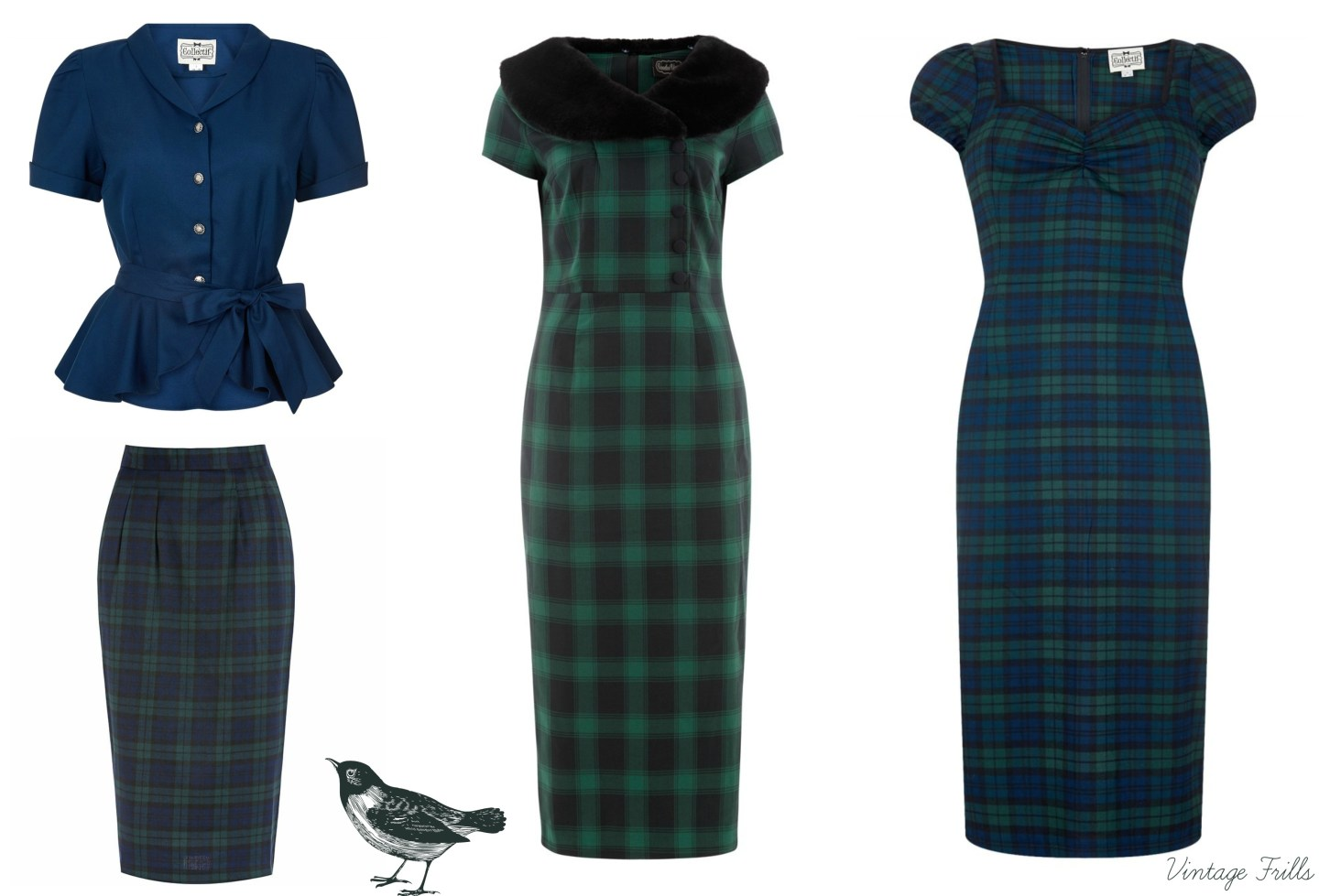 blue-and-green-tartan-vintage-style-outfits