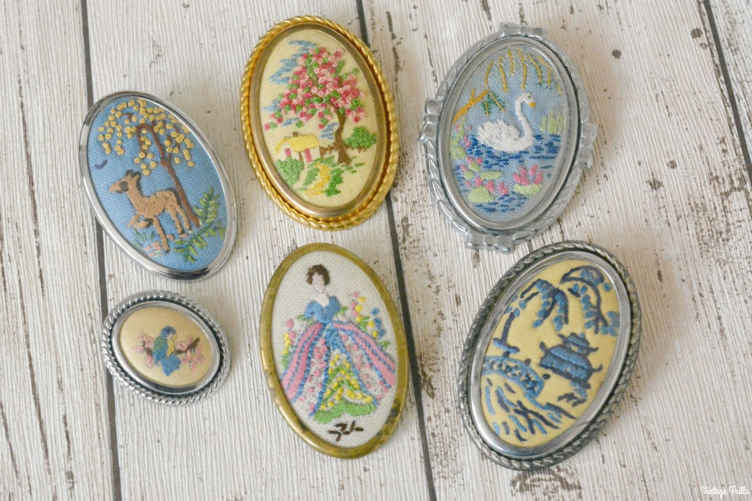 vintage-novelty-embroidered-brooches