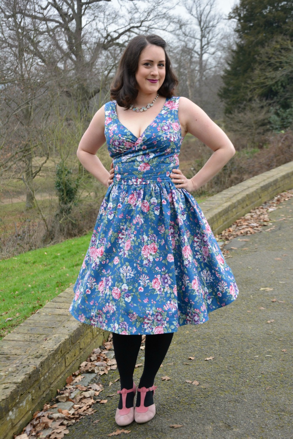 Dolly and Dotty Blue Floral Dress Review