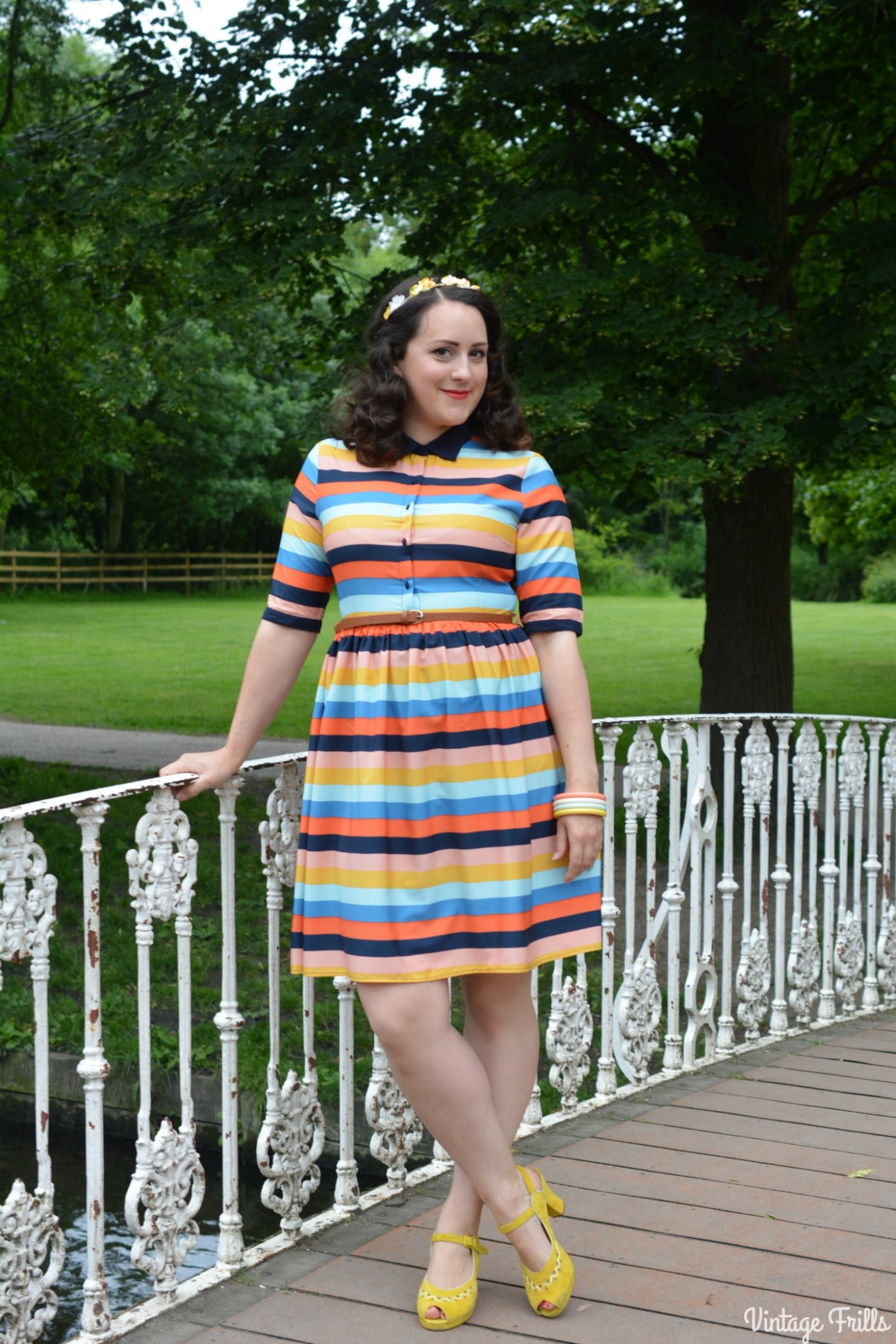 A Bright and Cheerful Shirt Dress from Joanie Clothing #OOTD