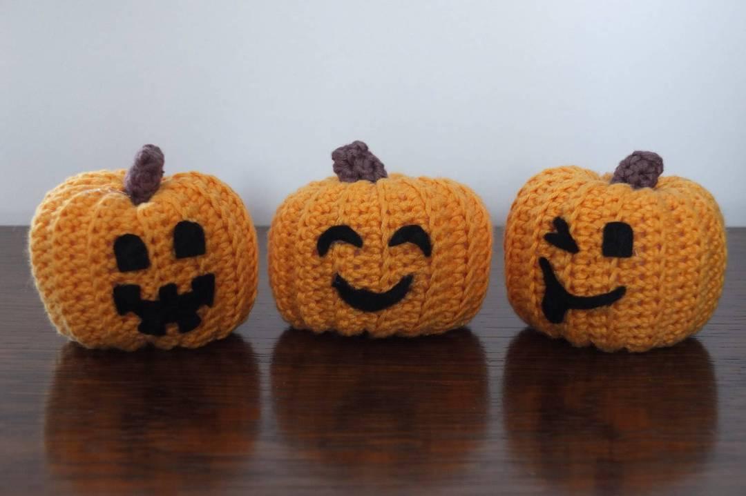 Etsy Halloween Decorations Crochet Pumpkins