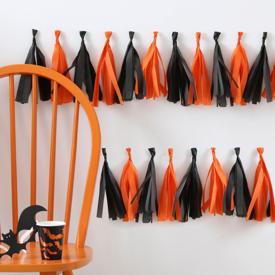 Etsy Halloween Decorations Tassel Garland
