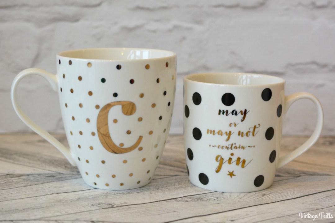 Gold and Cream New Look Initial Mug