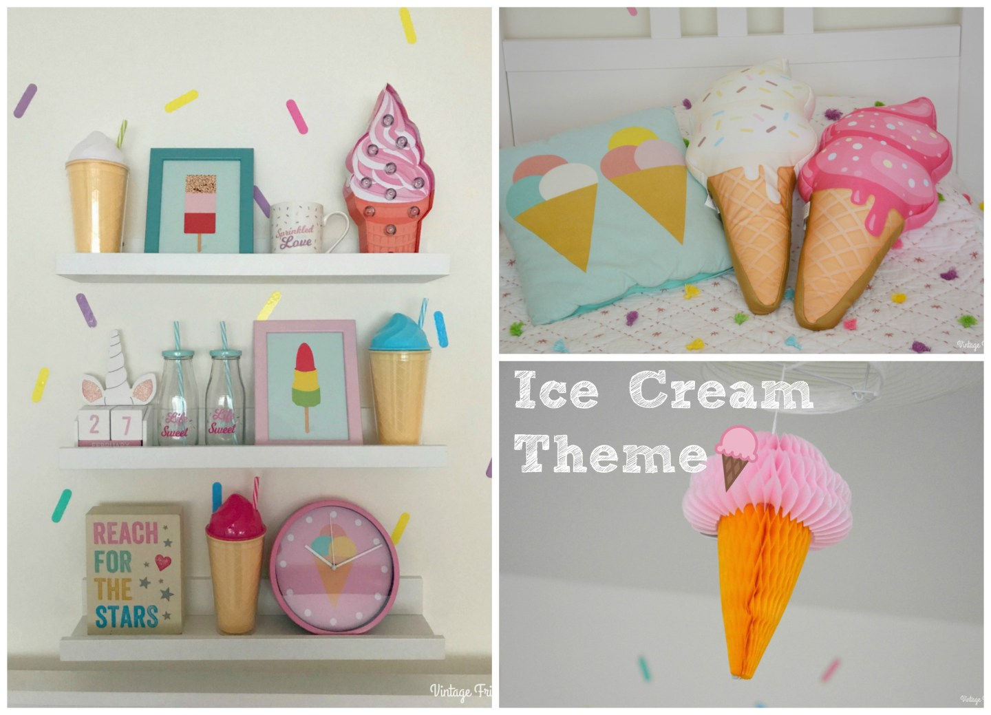 The Ice Cream Theme – Lila's Room Makeover Part One