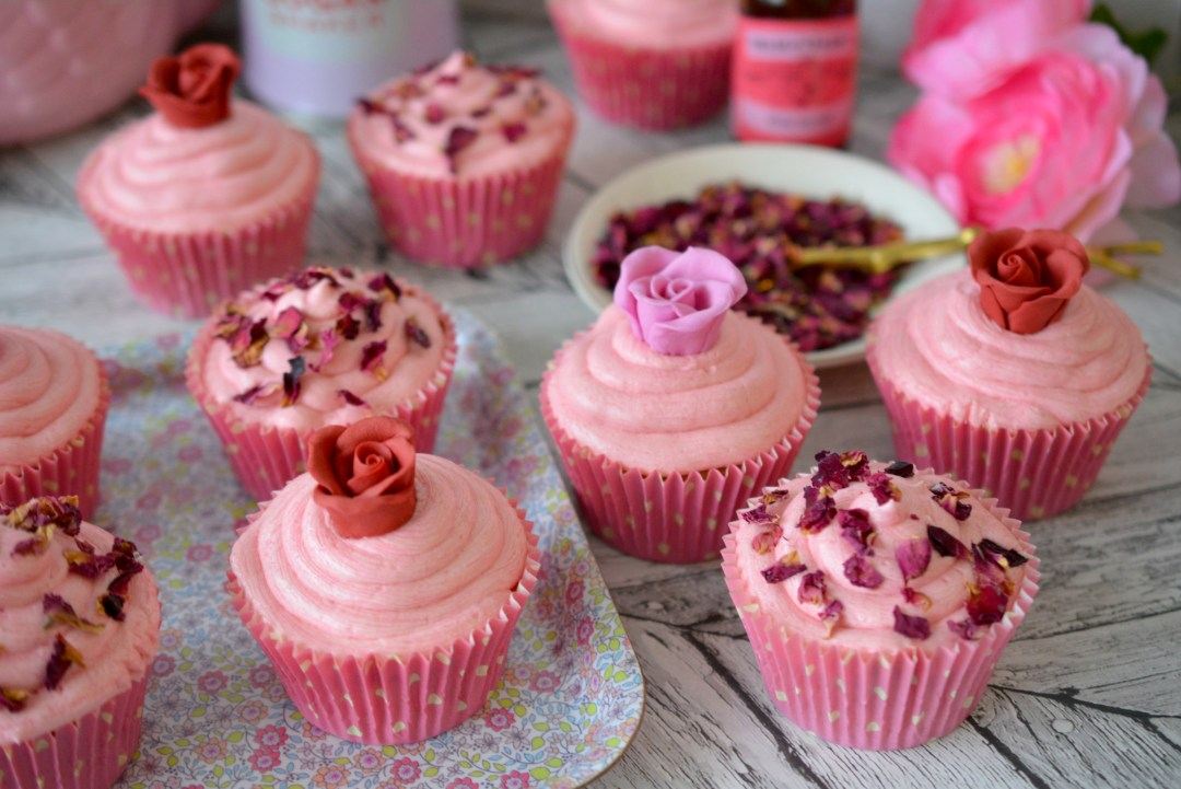 rosewater cup cake