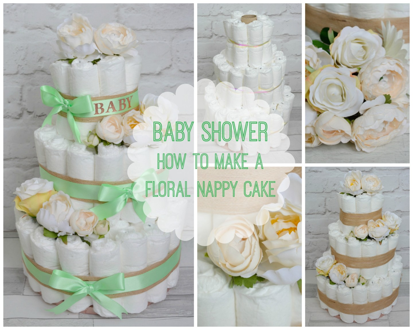 BABY SHOWER – How to Make a Gorgeous Floral Nappy Cake
