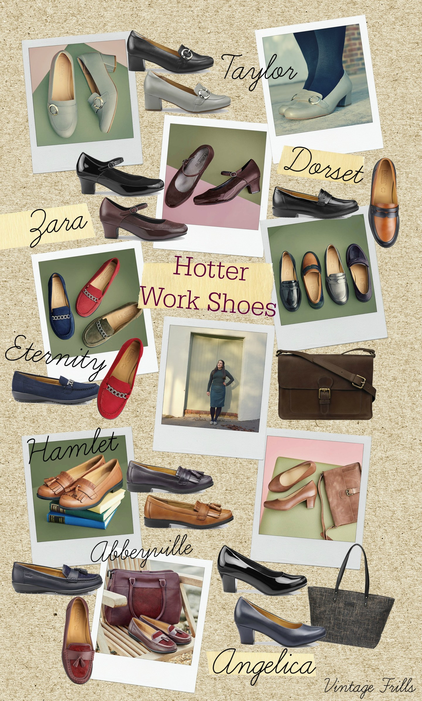 Comfortable vintage style work shoes from Hotter