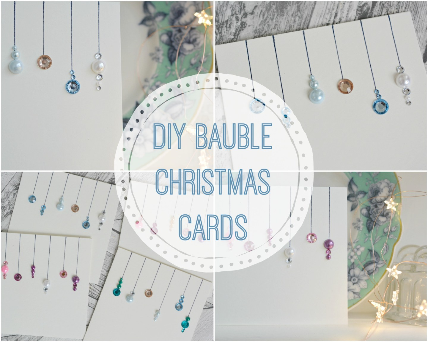 Easy DIY Jewel Bauble Christmas Cards #Blogmas