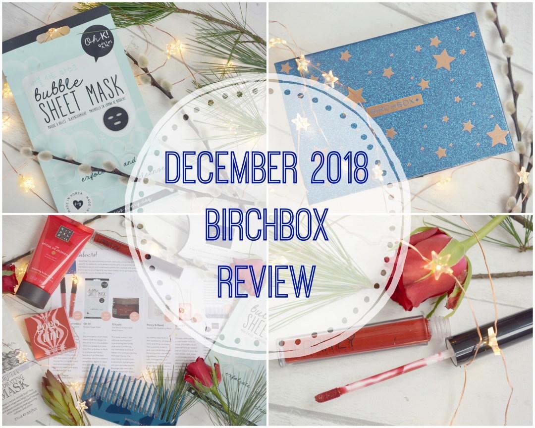Whats in my December Birchbox   Birchbox Review December 2018   Vintage Frills