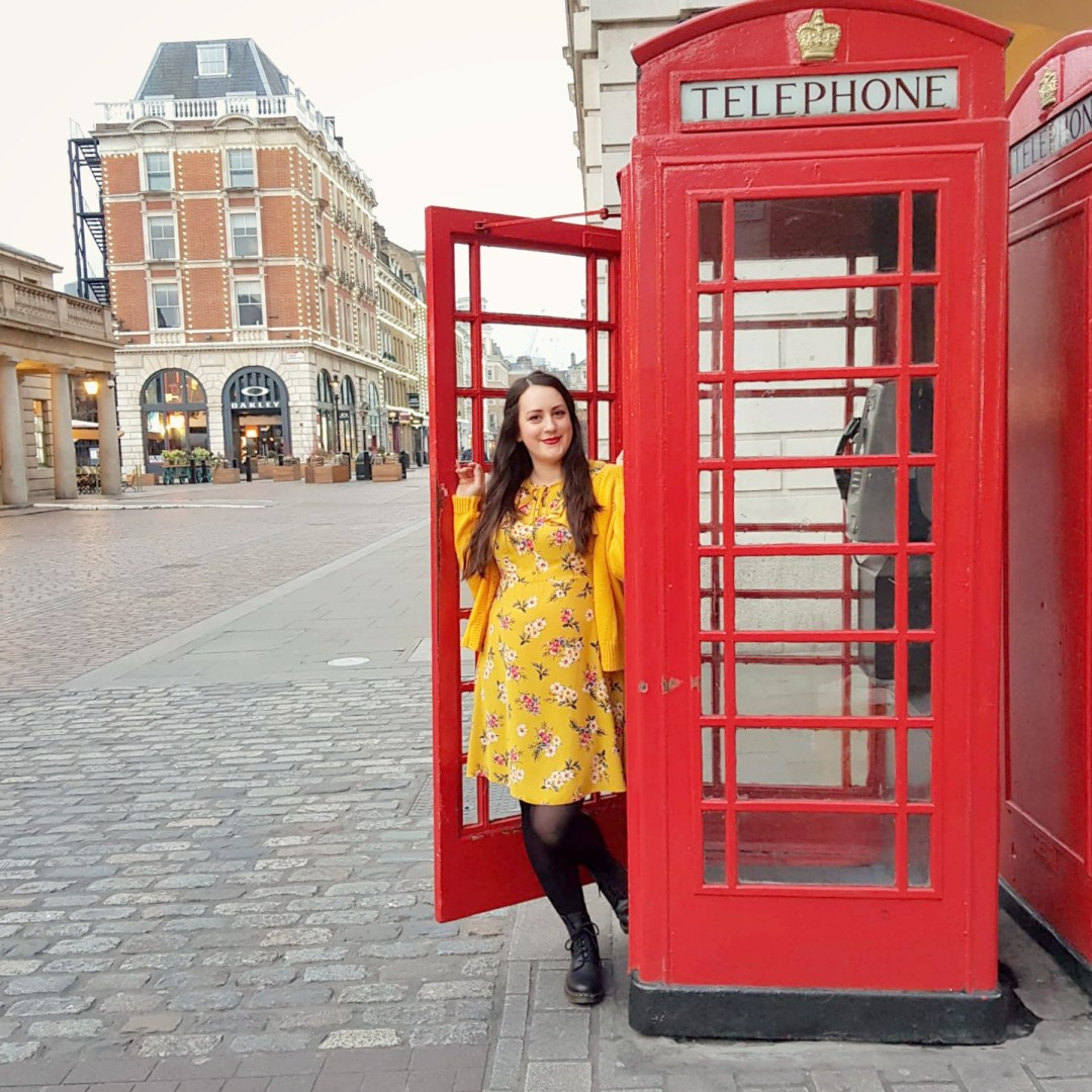 What I've Been Wearing - January 2019 | yellow floral dress and vintage yellow cardigan, Covent Garden London | Vintage Frills