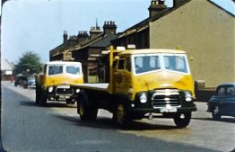 A picture of a lorry taken from a short 8mm vintage home movie of Cables Transport in Greenwich 1956