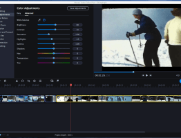 Screen shot showing a film being post processed