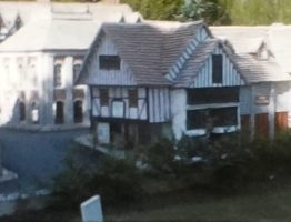 A still image of one of the buildings in Ramsgate Model Village from a vintage home movie in 1955