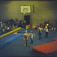 A Gymnastics display at a school
