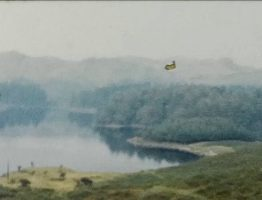 A Still image from a vintage home movie showing a holiday in Scotland in the summer of 1957.