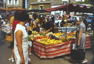 A scene from a Super 8 vintage home movie shot in Brittany, France in 1970